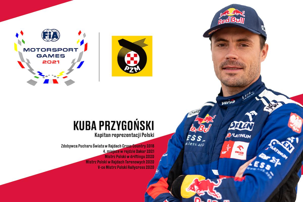 Kuba Przygoński kapitanem Reprezentacji Polski na FIA Motorsport Games